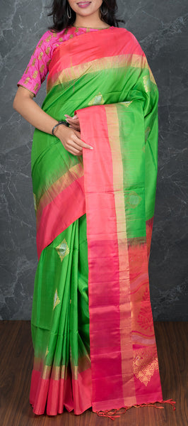 Green Softsilk Saree