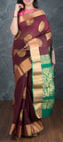 Traditional Maroon Silk Cotton Saree