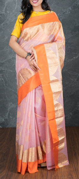 Light Pink Silk Cotton Saree