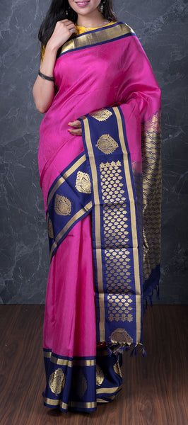 Purple Lightweight Kanchipuram Silk Saree