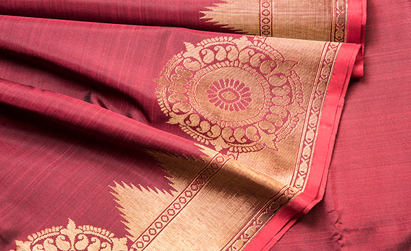 Marroon Traditional Kanchipuram Silk Saree