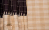 Traditional kanchipuram silk saree with checks