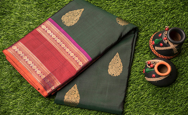 Traditional Green Kanchipuram Silk Saree