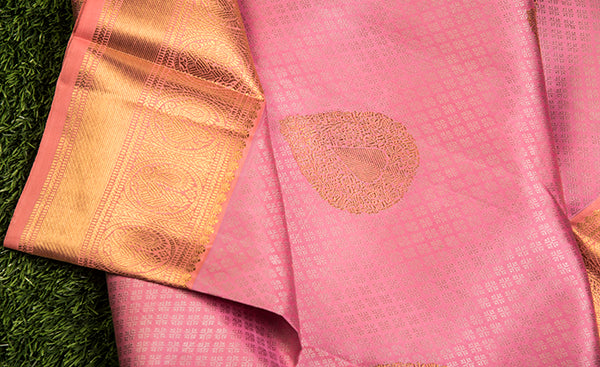 Blush Pink Kanchipuram Silk Saree