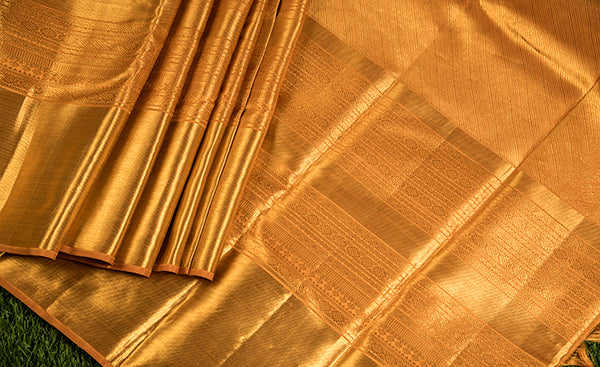 Gold Bridal Kanchipuram Silk Saree