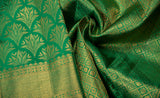 Turquoise Green Bridal Kanchipuram Silk Saree