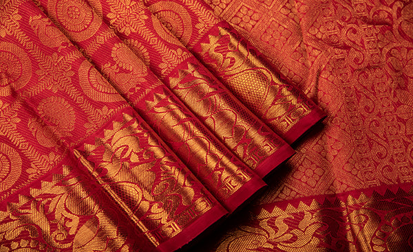 Red Bridal Kanchipuram Silk Saree