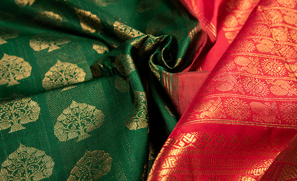 Dark Green Bridal Kanchipuram Silk Saree