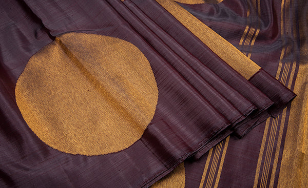Borderless Mauve Kanchipuram Silk Saree