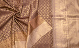 Coffee Brown & Beige Pure Kanchipuram Handloom Silk Saree With Pure Zari
