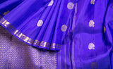 Purple Pure Kanchipuram Handloom Silk Saree