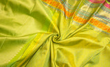 Lime Green Pure Kanchipuram Handloom Silk Saree