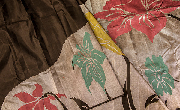 Rising Patterned Silk Saree