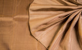 Light Brown Pure Kanchipuram Handloom Silk Saree