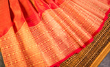 Red Exclusive Kanchipuram Handloom Silk Saree