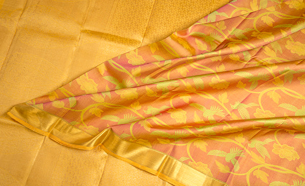 Yellow Exclusive Kanchipuram Handloom Silk Saree