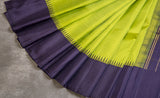 Parrot Green & Black Exclusive Kanchipuram Handloom Silk Saree