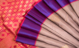 Mauve, Purple & Dark Pink Pure Kanchipuram Handloom Silk Saree