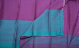 Lavender & Teal Blue Soft Silk Saree