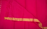 Deep Pink Lightweight Kanchipuram Silk Saree
