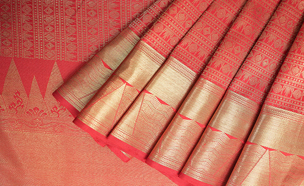 Red Bridal Silk Saree