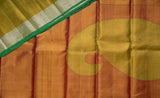 Pastel Green Pure Kanchipuram Handloom Silk Saree With 1G Zari