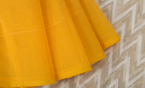 Yellow Supernet Saree