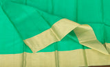 Red & Sea Green Soft Silk Saree