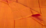 Red & Orange Soft Silk Saree With Half-Fine Zari