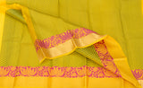 Lemon Yellow Lightweight Kanchipuram Silk Saree