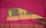 Deep Maroon Lightweight Kanchipuram Handloom Silk Saree