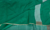 Sea Green Pure Tussar Silk Saree