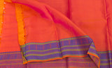 Orange Lightweight Kanchipuram Handloom Silk Saree