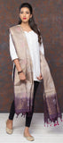 Taupe & Purple Kora Silk Dupatta