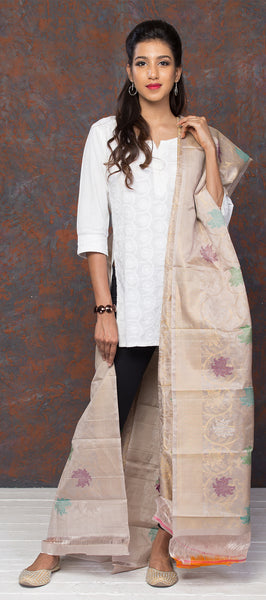Off-White Kora Silk Dupatta