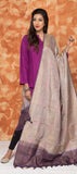 Beige & Purple Kora Silk Dupatta