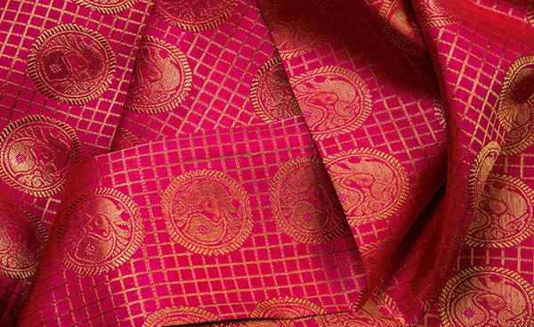 Pink Bridal Kanchipuram Silk Saree