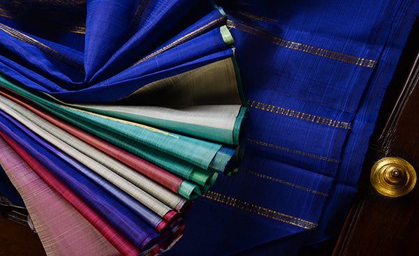 Multi-colour Pure Kanchipuram Handloom Silk Saree