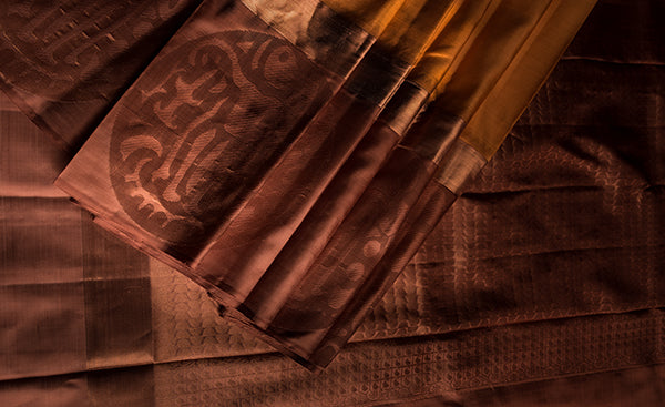 Mango yellow kanchipuram silk saree