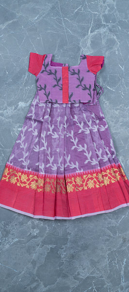 Lavendar Kids Cotton Paavadai (1-2 YEARS)
