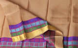 Black Lightweight Kanchipuram Silk Saree With Multicoloured Border