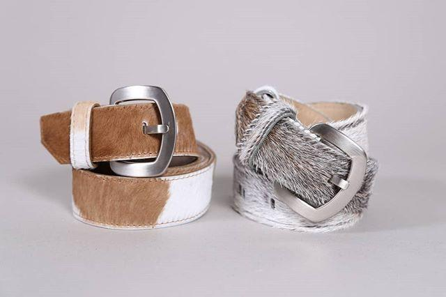 NATURAL COWHIDE BELT