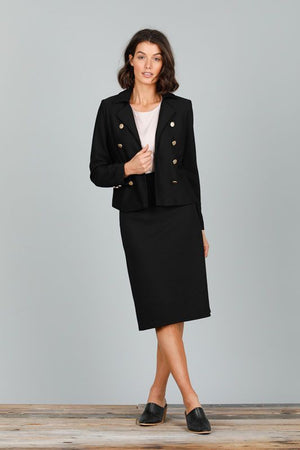 5TH AVENUE JACKET - BLACK POINTEL
