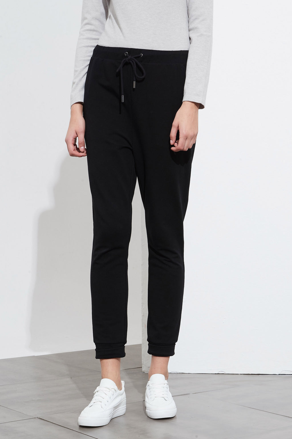 DRAWCORD LOUNGE PANTS - BLACK