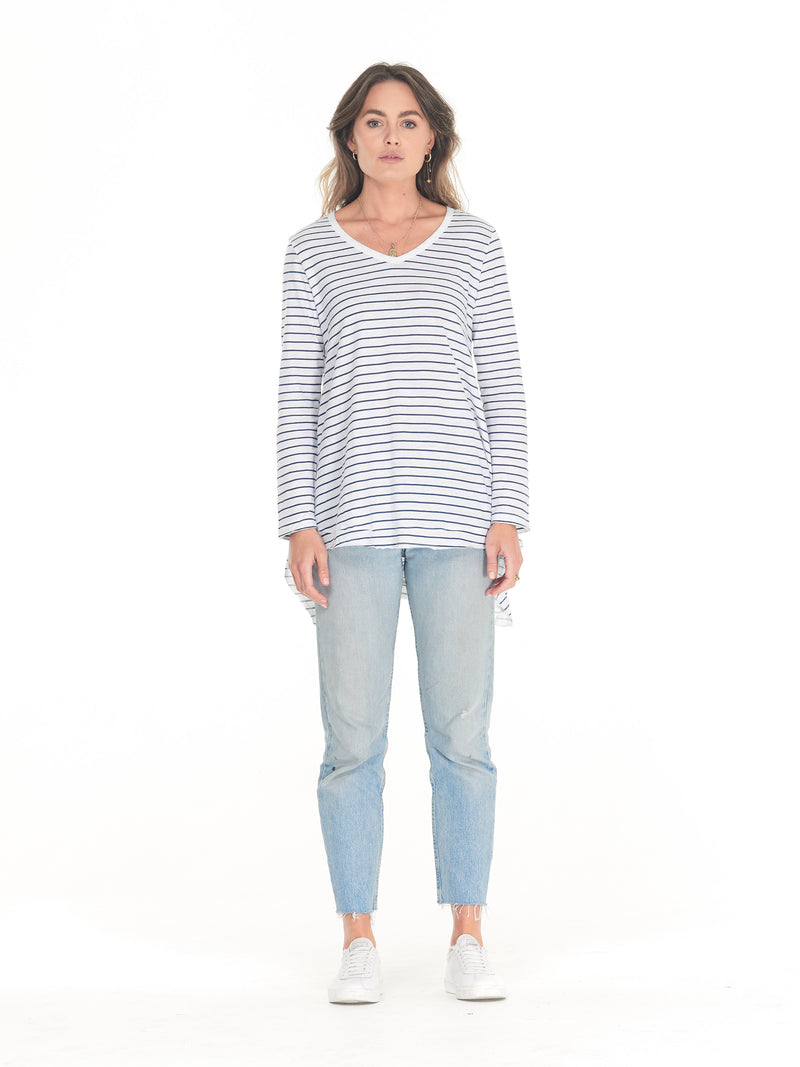 Clé - Esther Long Sleeve T-shirt Stripe
