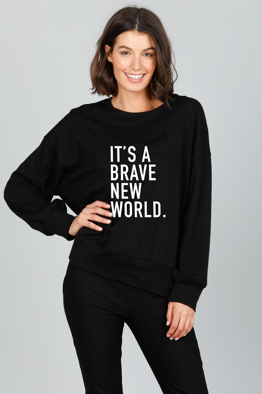Brave New World Sweat - Black