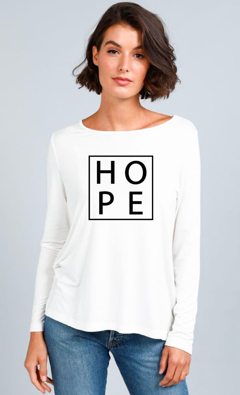Hope Long Sleeve T-shirt - White