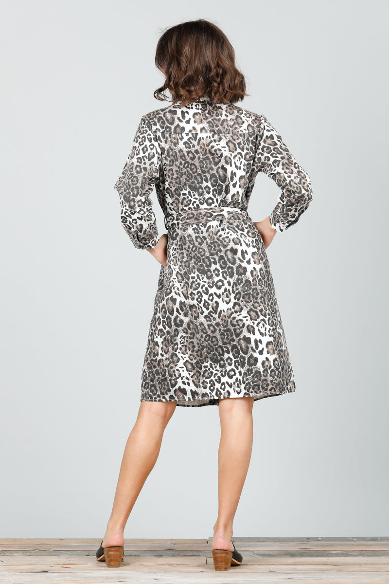 HINTERLAND SHIRT DRESS - ANIMAL PRINT