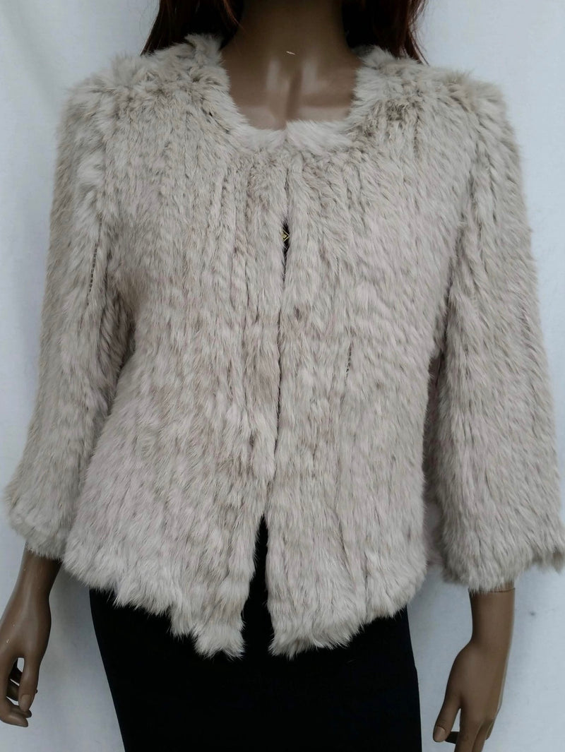 Channel Fur Jacket - Stone