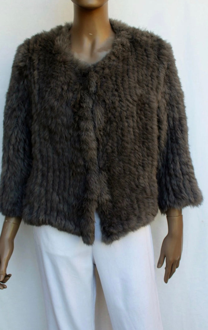 Channel Fur Jacket - Mocha